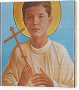 Saint Alexei Oil Icon On Wood. Tsarevich  Passion-bearer Wood Print