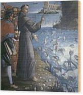 Saint Anthony Of Padua Preaching Wood Print