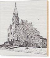 Saint Bridget Church Wood Print by Michelle Welles