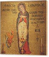 Saint Catherine Of Alexandria Altar Wood Print