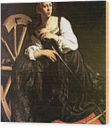 Saint Catherine Of Alexandria Wood Print by Caravaggio