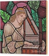 Saint Cecilia Wood Print by Gilroy Stained Glass