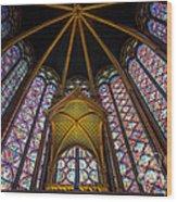Saint Chapelle Windows Wood Print