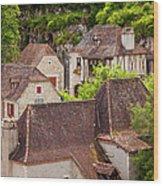 Saint Cirq Rooftops Wood Print