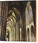Saint Denis Cathedral Wood Print by Olivier Le Queinec