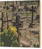 Saint Dominic Cemetery At Old D'hanis Texas Wood Print