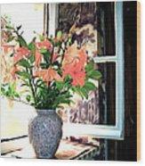 Saint Emilion Window Wood Print