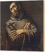 Saint Francis Of Assisi Wood Print