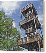Saint Francois Observation Platform On Ile D'orleans-qc Wood Print