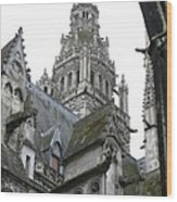 Saint Gatien's Cathedral Steeple Wood Print