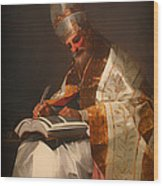 Saint Gregory The Pope Wood Print