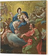 Saint James Being Visited By The Virgin Wood Print