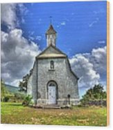 Saint Joeseph's Church Maui  Hawaii Wood Print