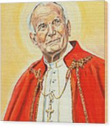 Saint John Paul II Wood Print