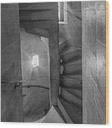 Saint John The Divine Spiral Stairs Bw Wood Print