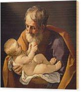 Saint Joseph And The Christ Child Wood Print