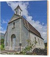 Saint Joseph Church Maui Hawaii Wood Print