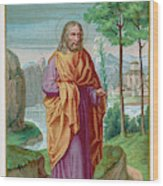 Saint Joseph Husband Of Mary, And Wood Print
