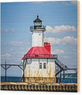 Saint Joseph Lighthouse Picture Wood Print by Paul Velgos