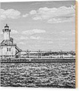 Saint Joseph Lighthouse Retro Panoramic Photo Wood Print