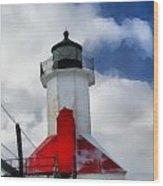 Saint Joseph Michigan Lighthouse Wood Print by Dan Sproul