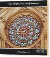 Saint Josephs Cathedral Stained Glass Window Buffalo New York Wood Print
