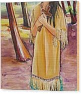 Saint Kateri Tekakwitha Version One Wood Print