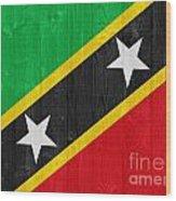 Saint Kitts And Nevis Flag Wood Print