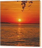 Saint Lawrence River Sunset IIi Wood Print