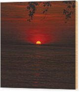 Saint Lawrence River Sunset Iv Wood Print