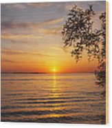 Saint Lawrence River Sunset V Wood Print