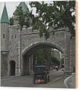 Saint Louis Gate In Ramparts Of Quebec City Wood Print