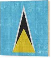 Saint Lucia Flag Wood Print
