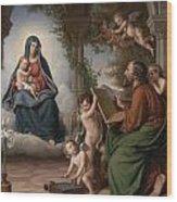 Saint Luke Wood Print