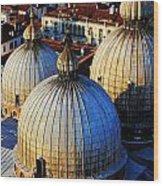 Saint Mark's Domes Wood Print