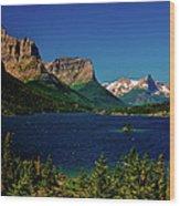 Saint Mary Lake And Wild Goose Island Wood Print