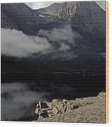 Saint Mary Lake East Glacier Wood Print