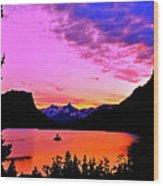Saint Mary Lake Twilight Wood Print
