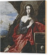 Saint Mary Magdalene In The Desert Wood Print
