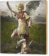 Saint Michael's Triumpf Wood Print