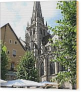 Saint Nazaire Cathedral Autun Wood Print