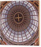 Saint Nicholas Church Dome Interior In Amsterdam Wood Print