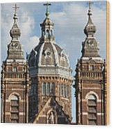 Saint Nicholas Church In Amsterdam Wood Print
