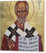 Saint Nicholas The Wonder Worker Wood Print