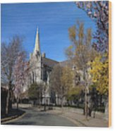 Saint Patricks Cathedral Founded Wood Print