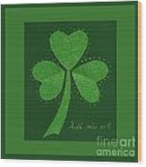 Saint Patricks Day Collage Number 13 Wood Print
