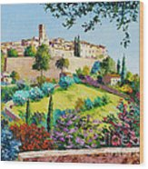 Saint Paul De Vence Wood Print