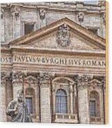 Saint Peters Basilica Rome Wood Print
