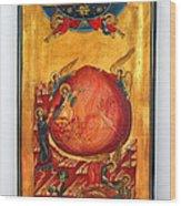 Saint Prophet Elias Hand Painted Russian Byzantine Icon  Wood Print