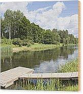 Saint River Wood Print